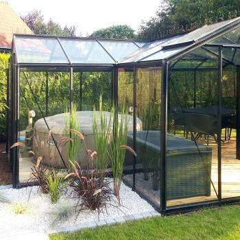 BABETTE : Serre de jardin en verre ACD, 15,40 m²