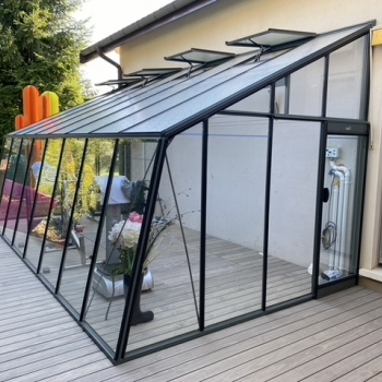 MS308 : Serre adossée en verre ACD, 17,91 m²